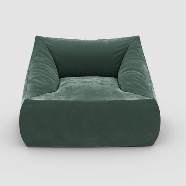 Бескаркасное кресло Angle Velur Green
