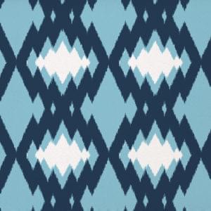 retro ikat blue deep blue
