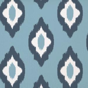 retro ikat blue