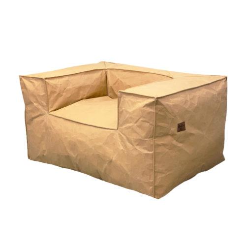 Кресло в крафтовой ткани