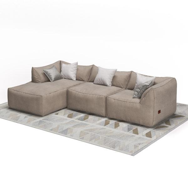Бескаркасный диван угловой
